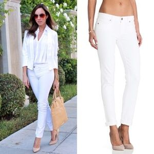 Paige Skyline Skinny Jeans Optic White 27 Ankle